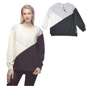 NWT Green Tea Colorblock Cozy Tunic/Sweatshirt